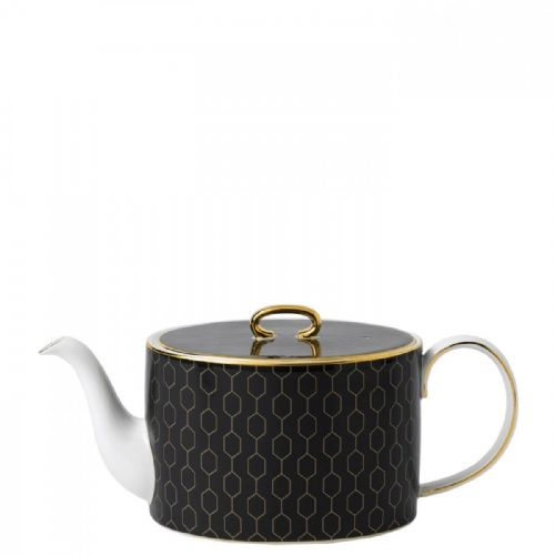 Arris Bone China Charcoal Teapot